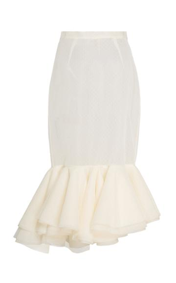 Brock Collection Passiflora Tulle Trumpet Skirt