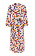 Akris Diamond Print Midi Dress