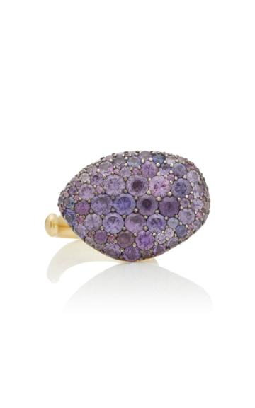 Vram Colony 18k Gold, Sterling Silver And Sapphire Ring