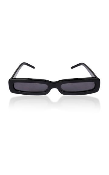 George Keburia Rectangular Frame Acetate Sunglasses