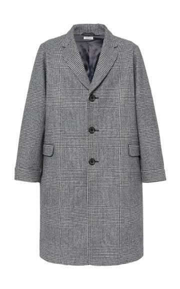 Blue Blue Japan Starry Night Oversized Wool Coat Size: L
