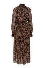 Moda Operandi Zimmermann Wavelength Shirred Midi Dress Size: 0
