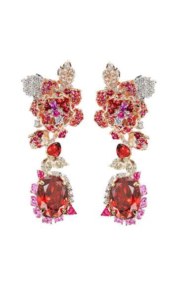 Moda Operandi Anabela Chan 18k Rose Gold Ruby Rose Earrings