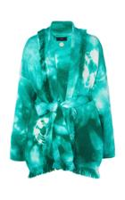 Moda Operandi Alanui Tie-dye Wool Fringed Cardigan Size: Xs