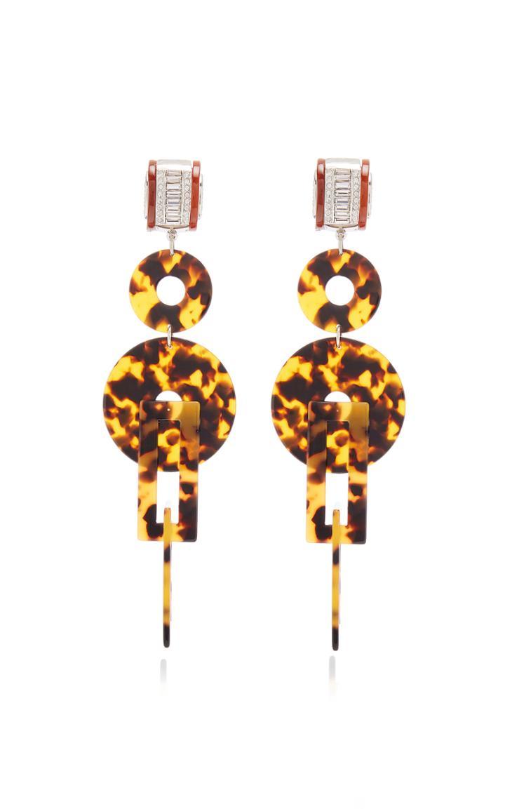 Moda Operandi Brandon Maxwell X Kenneth Jay Lane Deco Tort Earrings