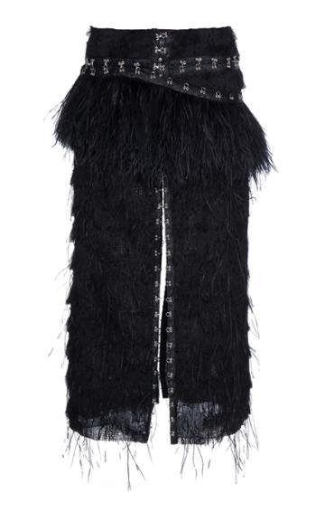 Proenza Schouler Woven Fil Coupe Skirt