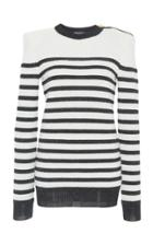 Balmain Striped Knit Top