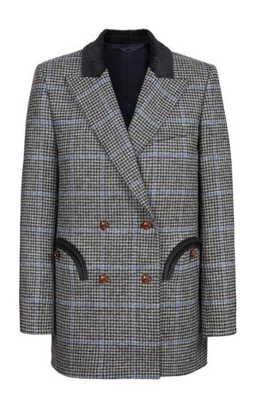 Blaz Milano Spina Snow Tomboy Wool Double-breasted Blazer