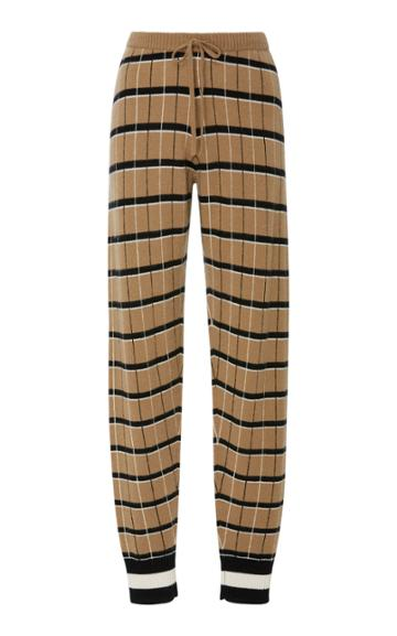 Madeleine Thompson Kessel Checked Cashmere Joggers