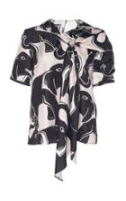 Lanvin Printed Silk Top