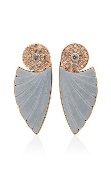 Ioanna Souflia Bardiglio Marble Earrings