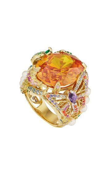 Moda Operandi Anabela Chan 18k Yellow Gold Citrine Swallowtail Ring