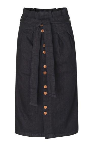 Blanche Avri Denim Button Front Skirt