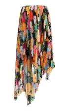 Richard Quinn Printed Pleated Skirt