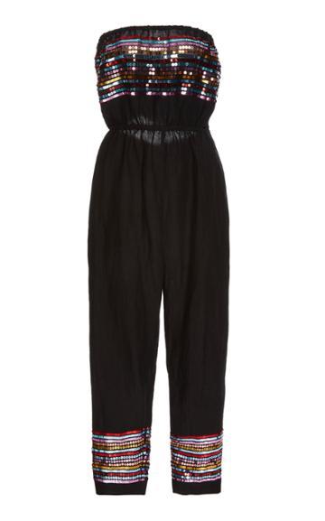 Carolina K Billie Sequin Linen-blend Jumpsuit