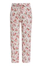 Moda Operandi Loveshackfancy Brently Printed Pointelle-cotton Skinny Pants