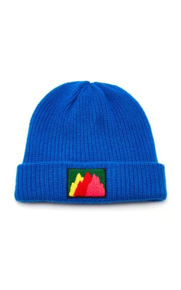 The Elder Statesman Watchman Embroidered Cashmere Hat