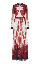 Elie Saab Printed Crepe Dress