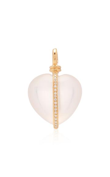 Ashley Mccormick Wrapped Heart 18k Gold And Diamond Necklace