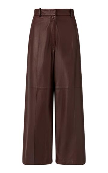 Joseph Tuba Cropped Wide-leg Leather Pants