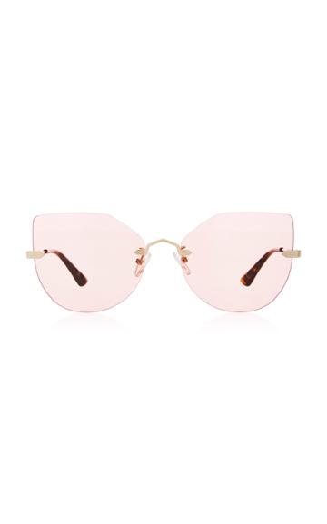 Mcq Sunglasses Cat-eye Gold-tone Metal Sunglasses