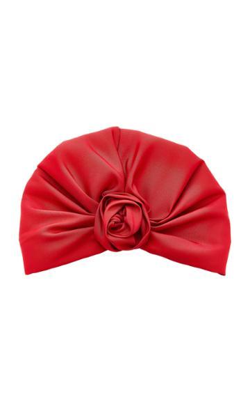 Jennifer Behr Rosette Silk Turban