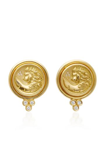 Temple St. Clair Lion Coin Earrings