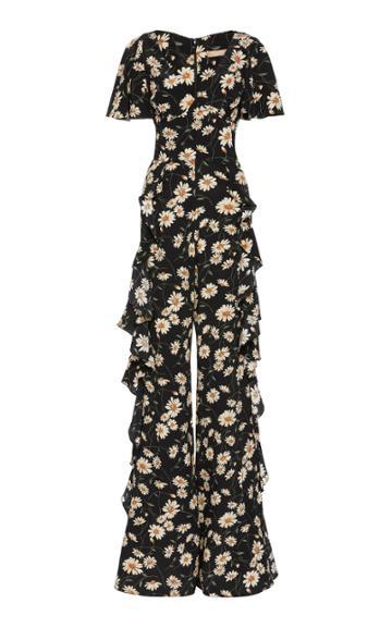 Michael Kors Collection Ruffle Silk Full-length Jumpsuit
