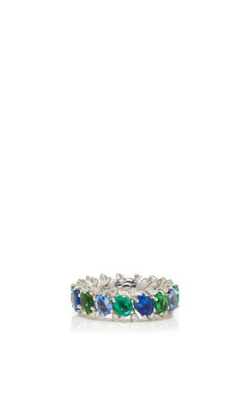 Qayten Ez Sapphire And Emerald Ring
