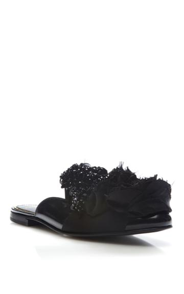 Lanvin Embroidered Slippers
