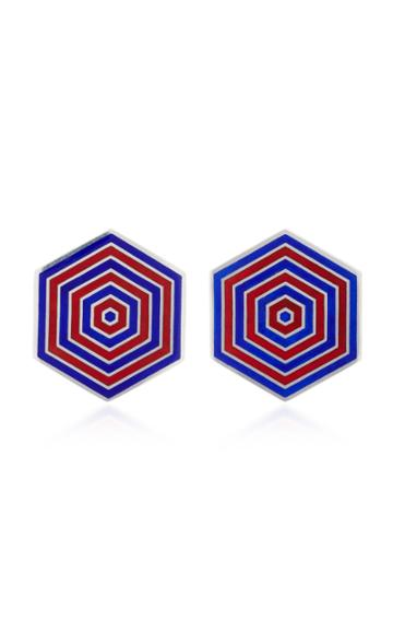 Silhouette M'o Exclusive Enamel Hexagon Earrings