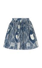 Red Valentino Poplin Heart Print Skirt