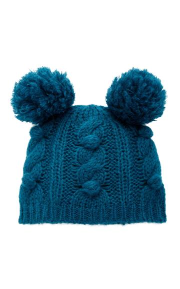Anna Sui James Coviello For Anna Sui Bobble & Cable Knit Hat