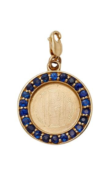 Moda Operandi Emily & Ashley Monogrammable Blue Sapphire Charm