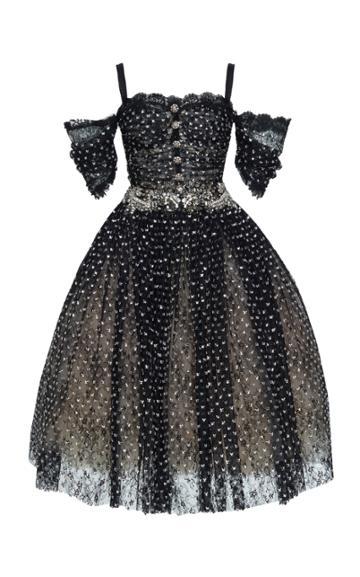 Dolce & Gabbana Off The Shoulder Embellished Dress