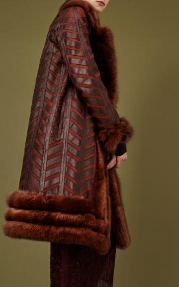 J. Mendel Sable Fur Trim Coat