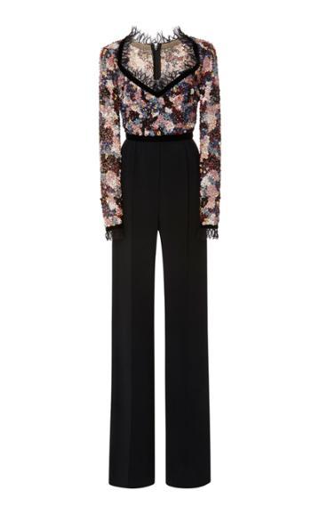 Elie Saab Floral Embellished Jumpsuit