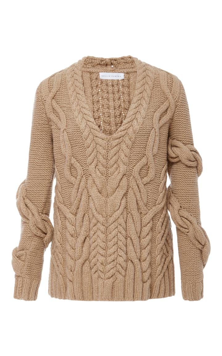 Partow Bay Wrap Cableknit Sweater