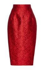 Dice Kayek Floral Jacquard Pencil Midi Skirt