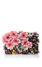 Elie Saab Floral Embroidered Clutch