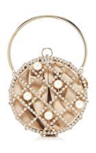 Moda Operandi Rosantica Ines Crystal And Pearl Top Handle Bag