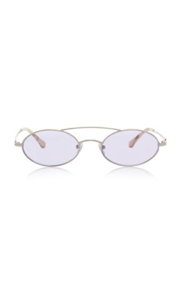 Alessandra Rich X Linda Farrow Round Sunglasses With Chain