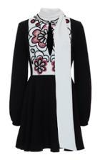Moda Operandi Valentino Draped Embroidered Silk Mini Dress Size: 36