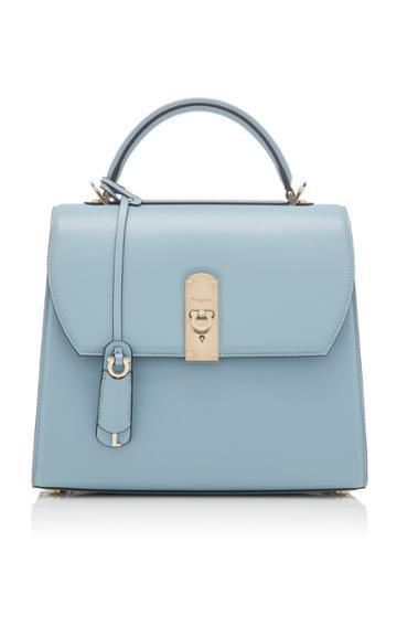 Salvatore Ferragamo Tenax Phouquette Boxyz Large Leather Bag