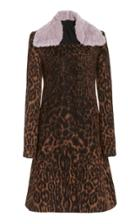 Moda Operandi Marina Moscone Printed Wool-blend Coat