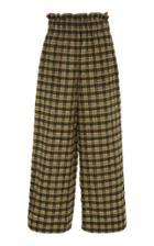 Ganni Charron Checked Wide-leg Pants