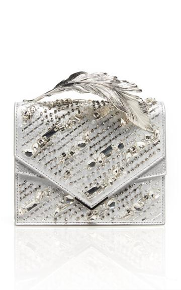 Ralph & Russo Alina Crystal Embroidered Leather Clutch