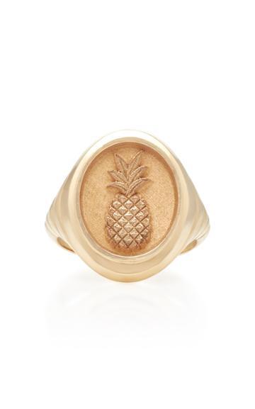 Retrouvai Pineapple 14k Gold Ring