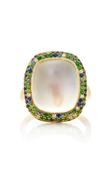 Martin Katz Cushion Shape Moonstone Cabochon Ring