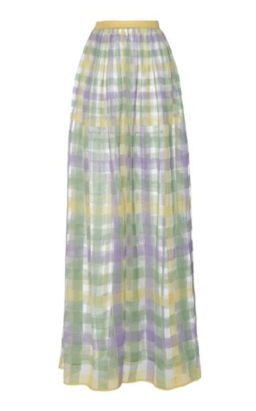 Cyclas Plaid Cotton-blend Skirt
